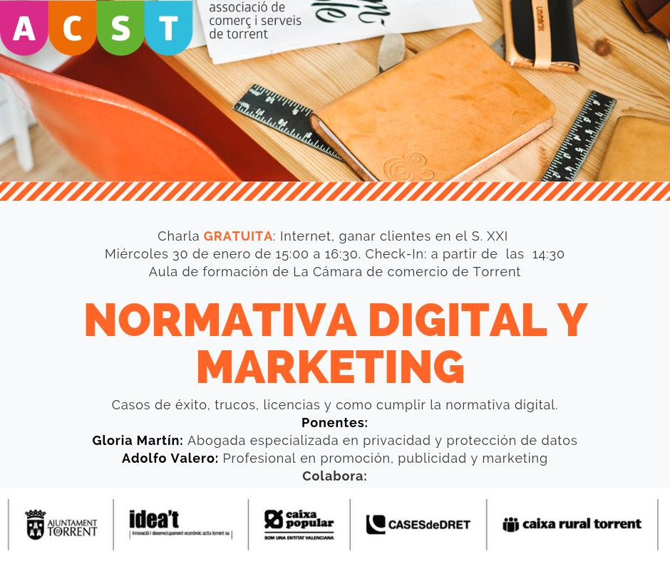 "ACST presenta la Charla Empresarial ""Normativa Digital y Marketing"" (30.01.19) !!!"