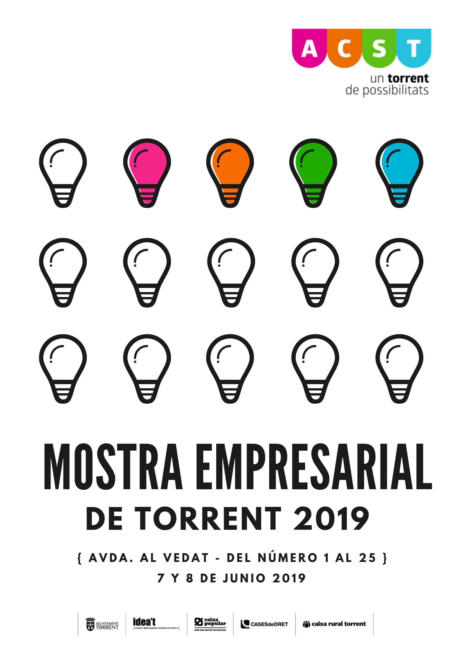 """""""Mostra Empresarial de Torrent 2019"""". Plazos y Condiciones (07 y 08 de Junio) !!!"""
