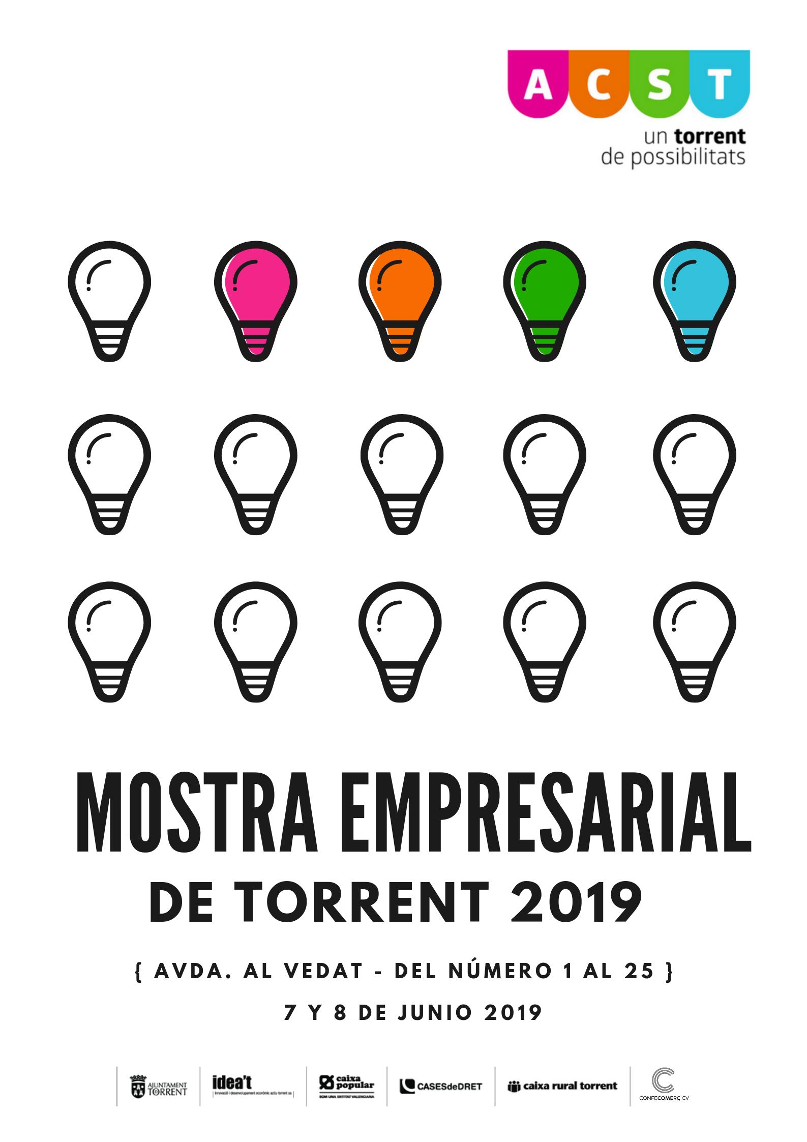 """Os invitamos a la """"Mostra Empresarial de Torrent 2019"""" (7 y 8 de Junio) !!!"""