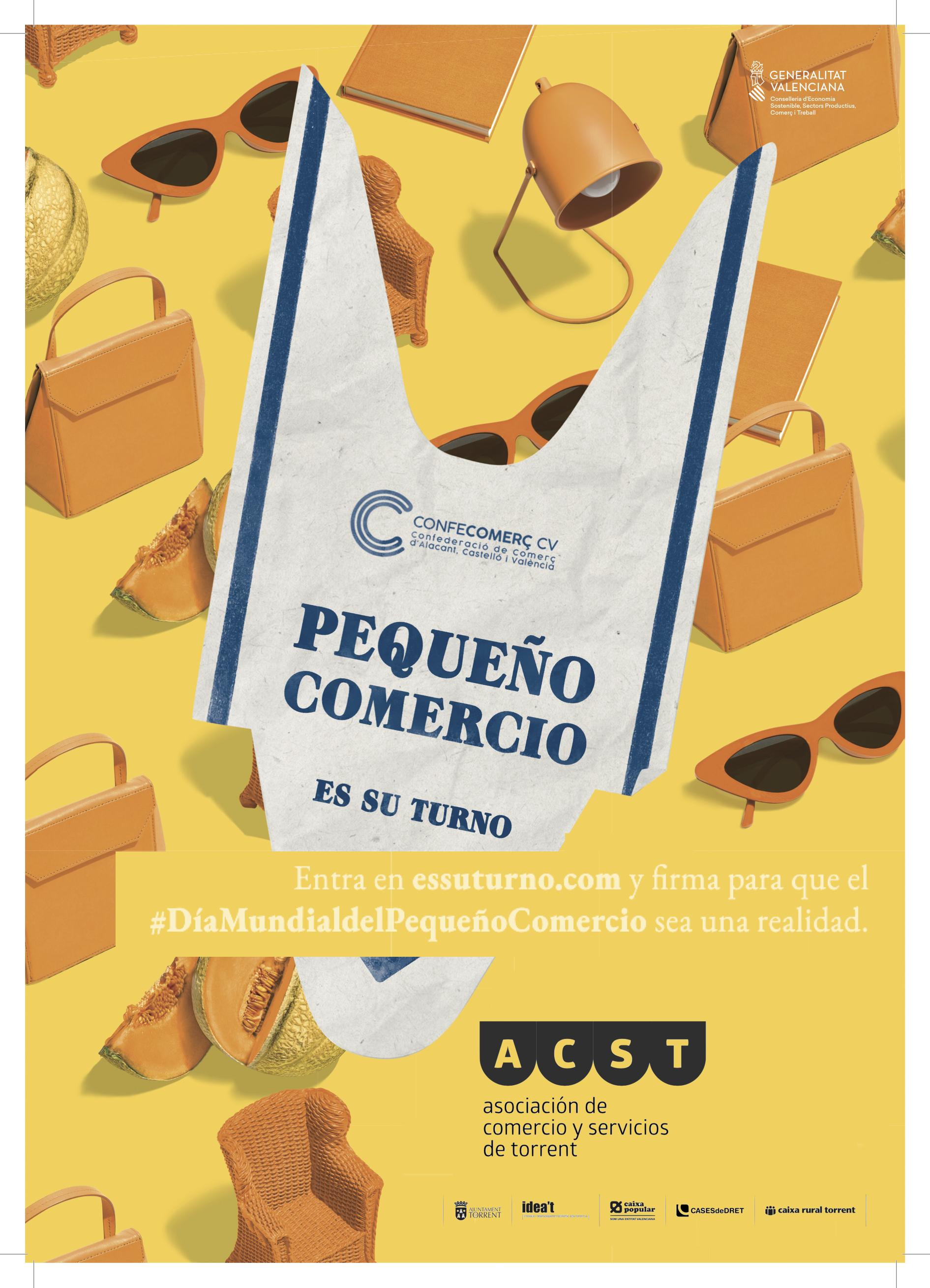 """ACST regala miles de bolsas y carteles para conseguir el """"Día del Mundial del Pequeño Comercio"""" (#EsSuTurno) !!!"""