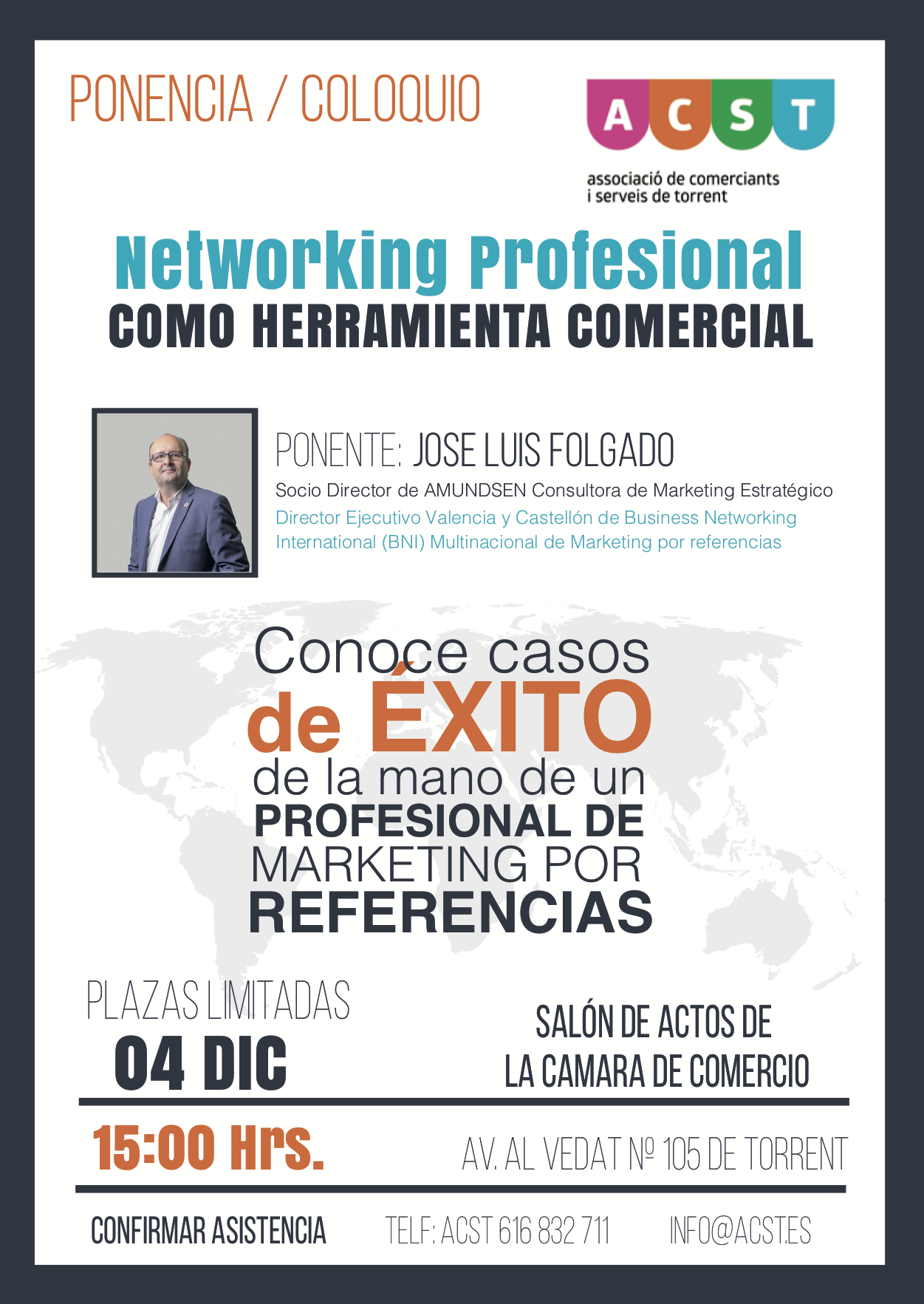 Charla Empresarial ACST. ¿Qué es el Networking? El Networking como Herramienta Comercial  (04.12.19) !!