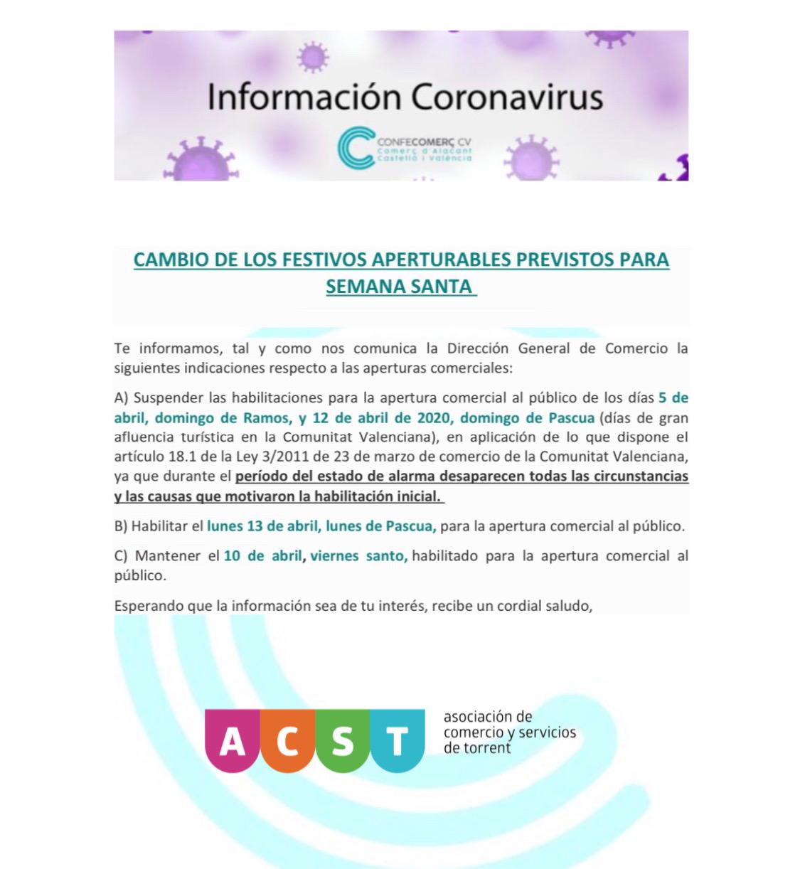 Cambios Festivos Aperturables (Info Oficial) !!