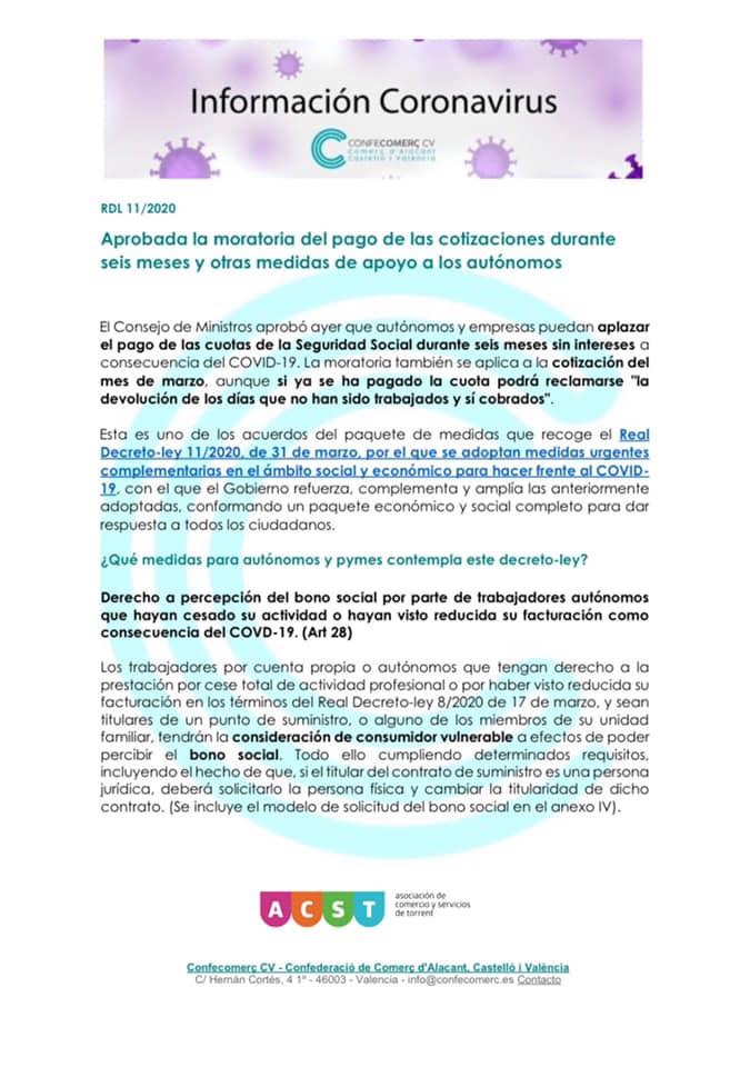 """Info sobre """"Moratorias de Pagos"""" para Autónomos y PYMES!"""