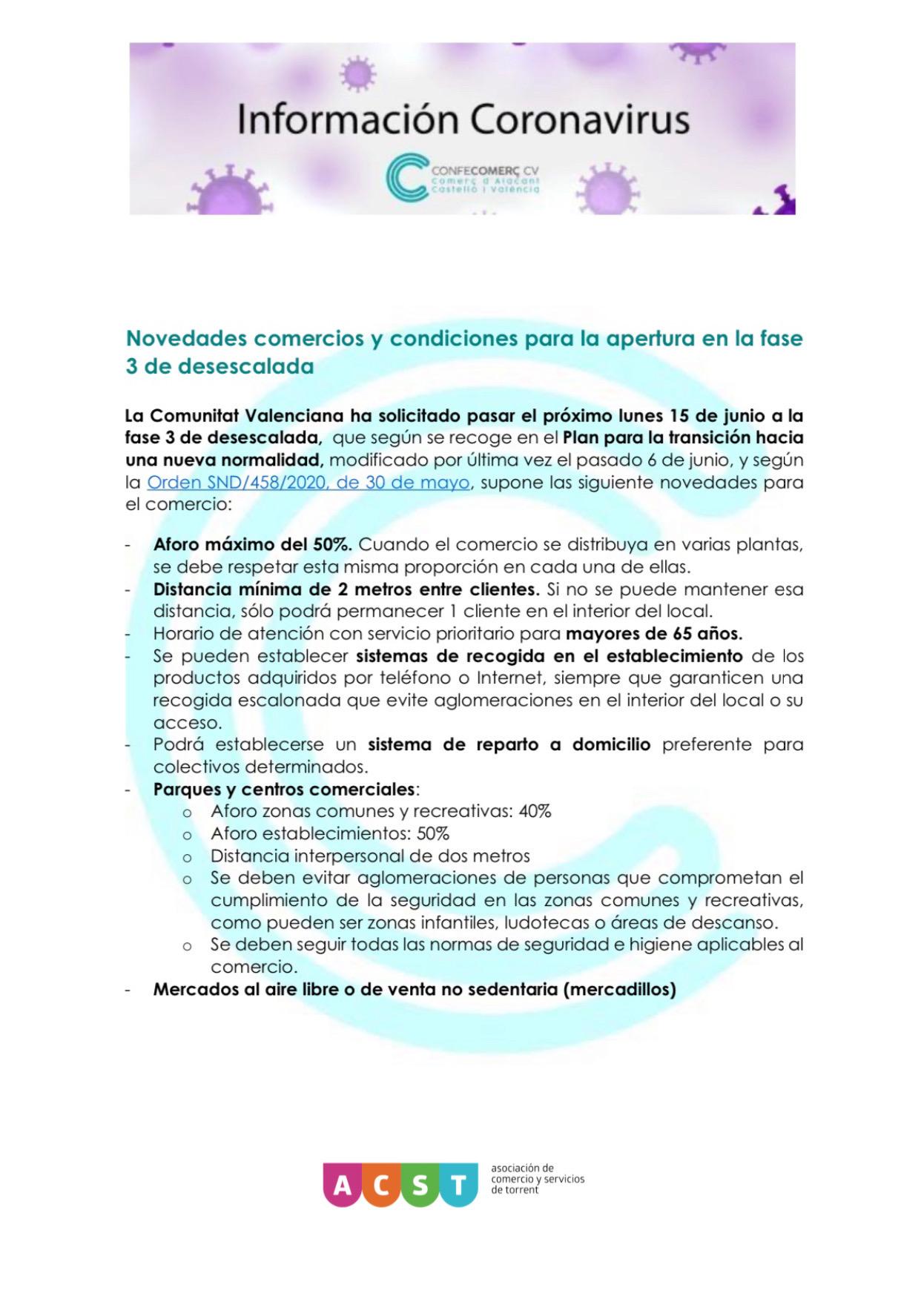 La Comunitat Valenciana pasa a Fase 3 (15.06.20) !!! Te contamos las Claves de la Nueva Fase !!!