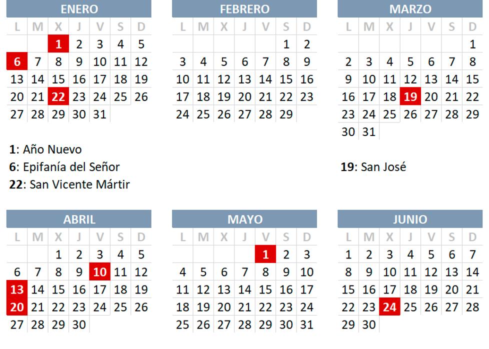 """San Juan y Calendario Laboral en la """"Comunitat Valenciana"""" para el resto de 2020!"""