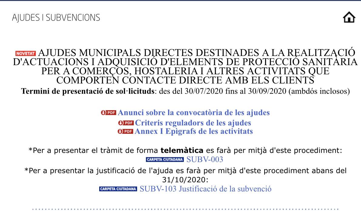 """Ayudas """"Adquisición de Elementos de Protección Sanitaria"""" del Ajuntament de Torrent"""