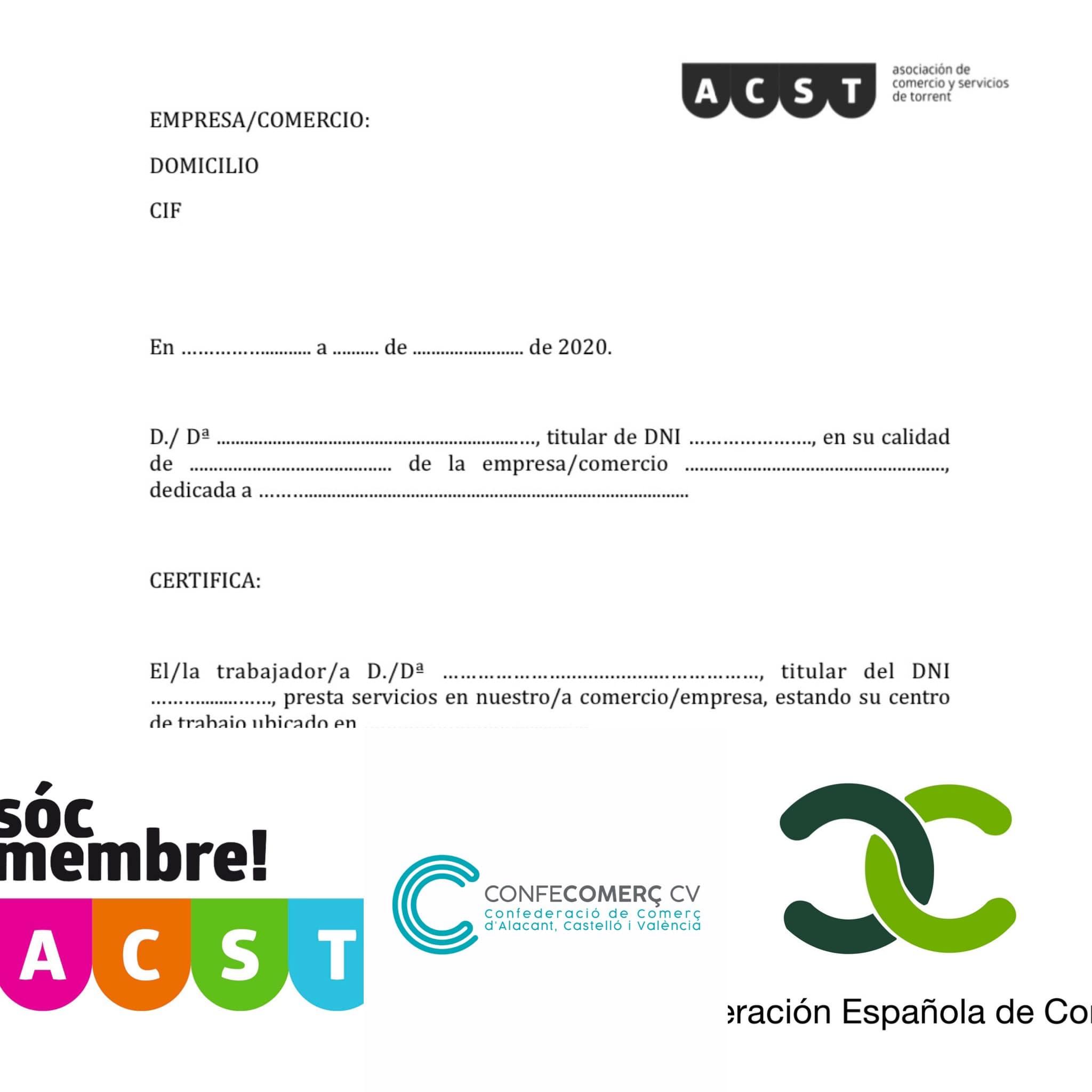 """Documento oficial acreditativo para trabajadores durante el """"Toque de Queda"""" (Formato .PDF)"""