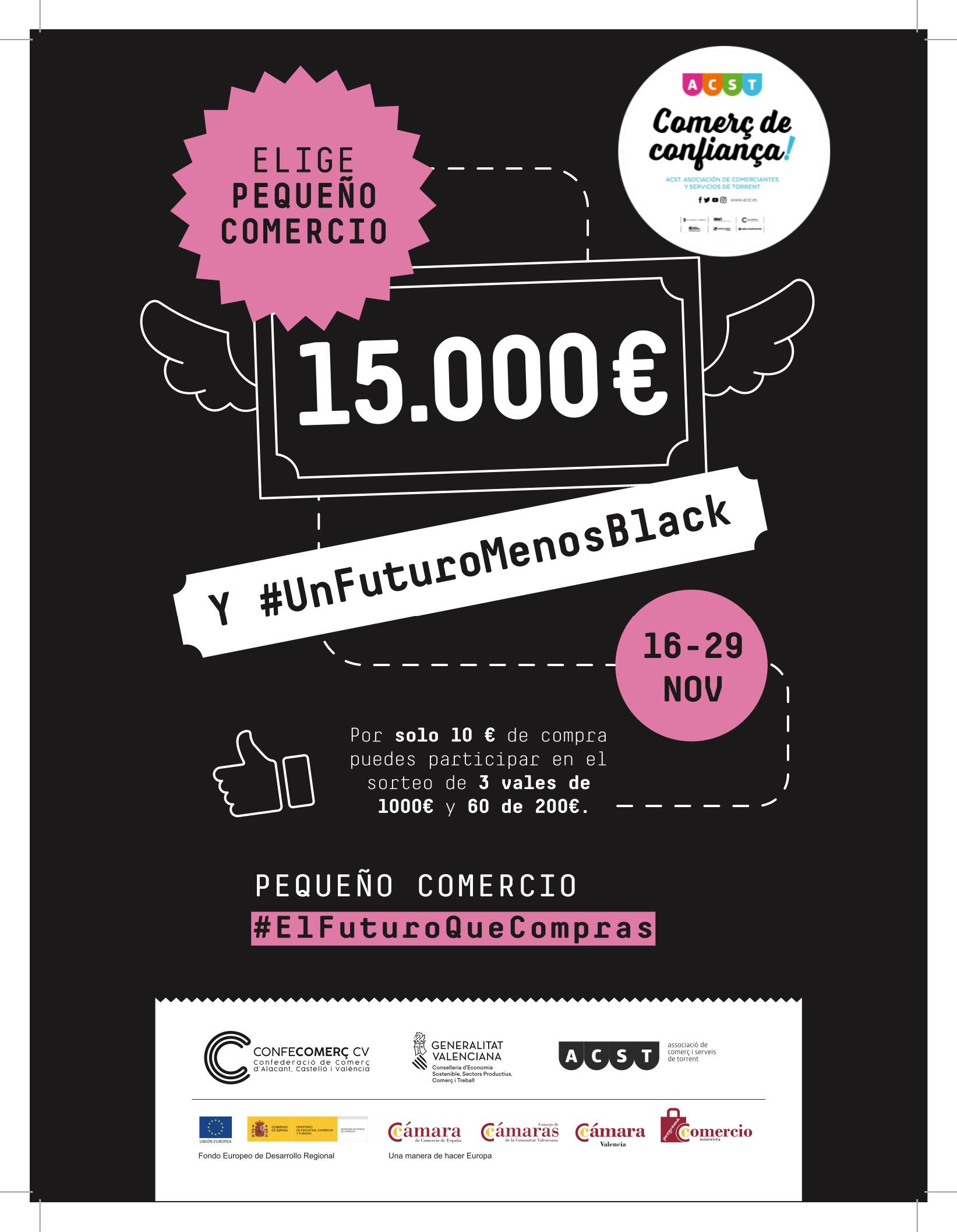 """ACST, CONFECOMERÇ Y CÁMARA DE COMERCIO LANZAN LA CAMPAÑA DE BLACK FRIDAY """"UN FUTURO MENOS BLACK"""" CON PREMIO PARA LOS QUE COMPREN EN EL #COMERCIODETORRENT !!!"""