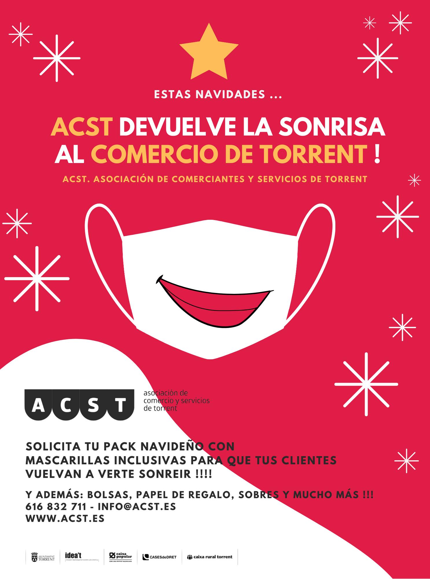 """Horarios de Reparto. Material Campaña de Navidad 2020: """"ACST devuelve la sonrisa al Comercio de Torrent"""" !!!"""