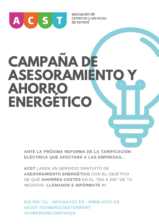 """ACST lanza una campaña de """"Ahorro Energético"""" para los comerciantes de Torrent !!"""