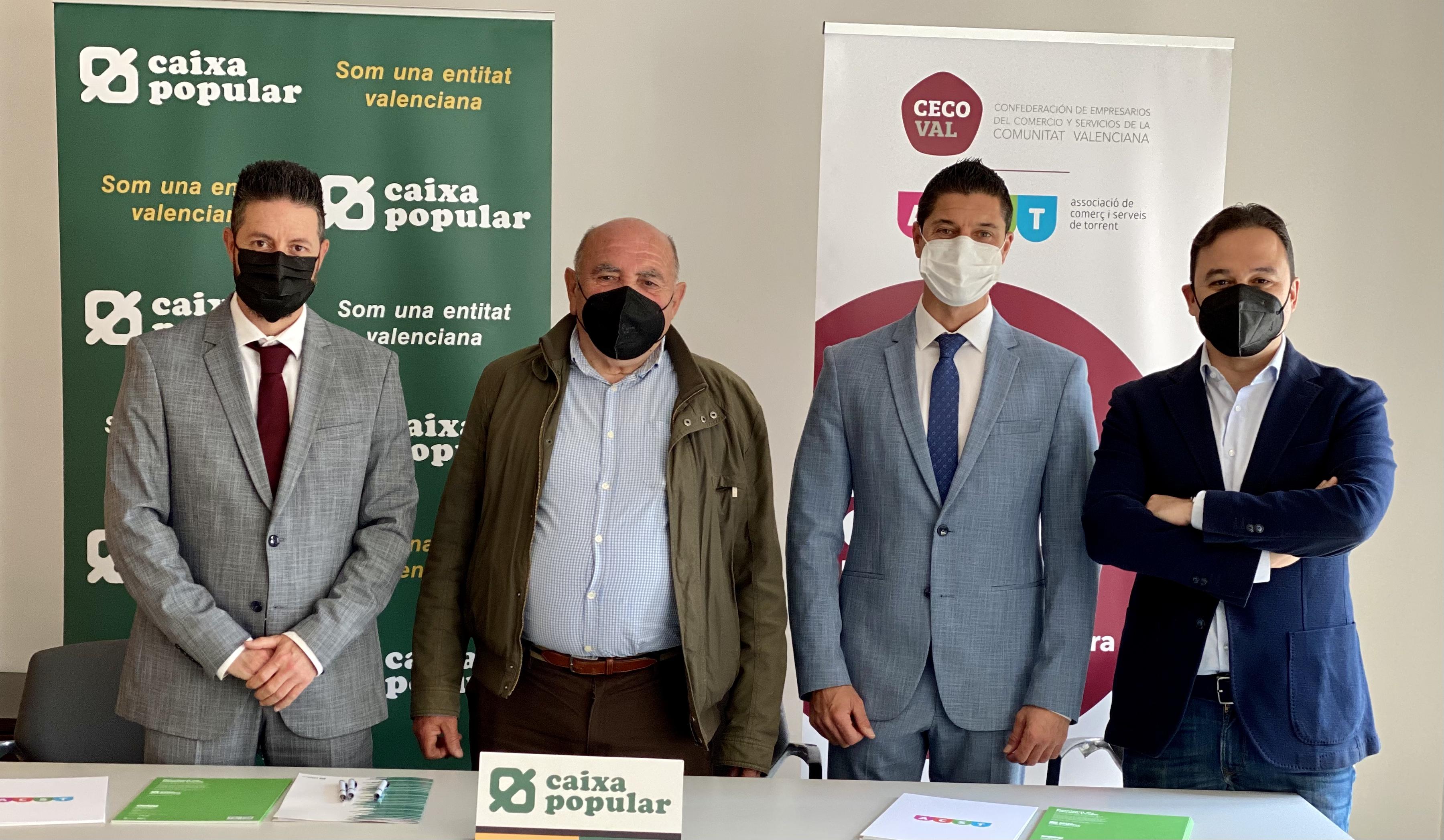 ACST y Caixa Popular firman un convenio que mejora notablemente las condiciones de los comerciantes de Torrent !!!