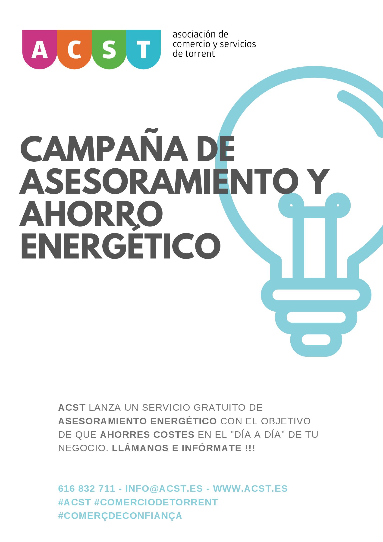 """ACST lanza una campaña de """"Ahorro Energético"""" para los comerciantes de Torrent!"""