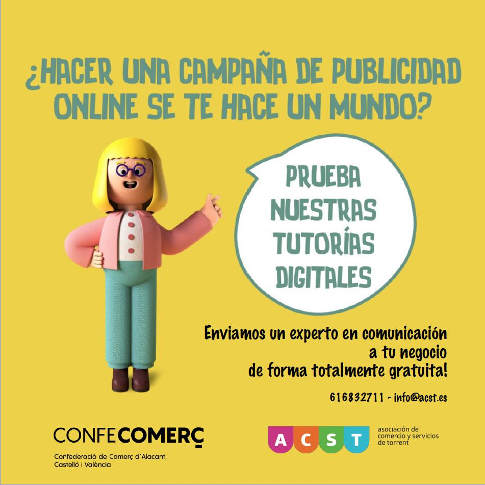 """ACST y CONFECOMERÇ lanzan un servicio gratuito de """"Tutorías Digitales para Comercio"""" !!!"""
